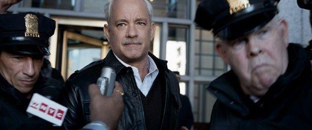 映画「ハドソン川の奇跡」で、パイロットを演じるトム・ハンクス