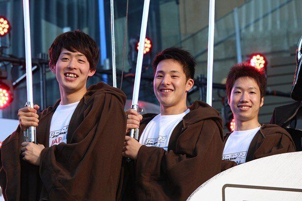 『ローグ・ワン/スター・ウォーズ・ストーリー』のイベントに登場したリオ五輪のメダリストたち
