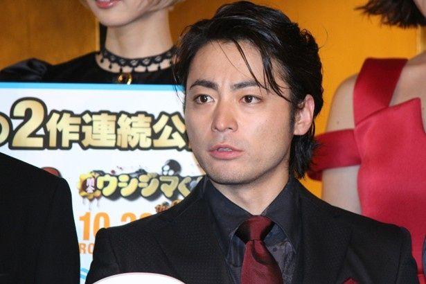 『闇金ウシジマくん Part3』の完成披露舞台挨拶に登場した山田孝之