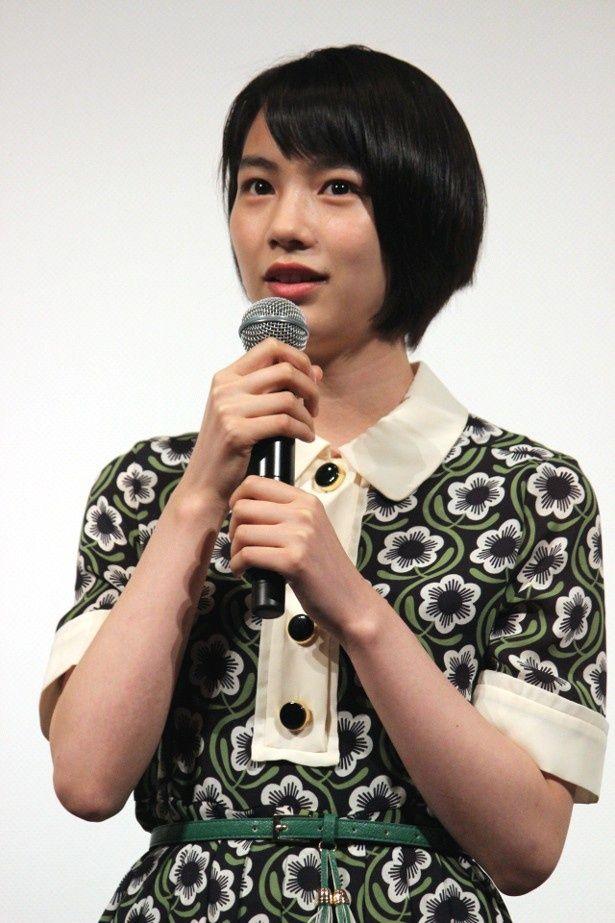 女優・のんが主演声優を務めた完成披露試写会に登壇