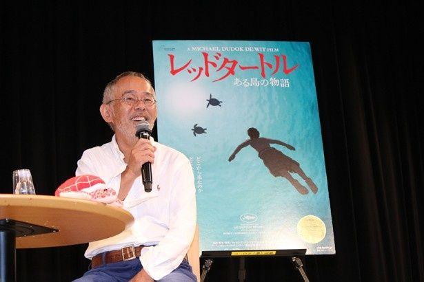 『レッドタートル ある島の物語』の試写会に登壇した鈴木敏夫プロデューサー
