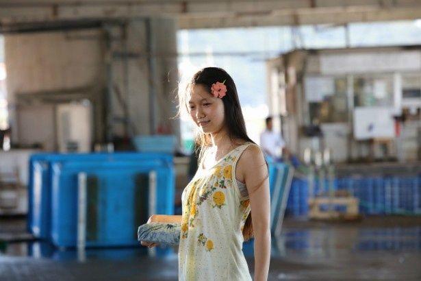 7kg増量し、ほぼノーメイクでイノセントな洋平の娘・愛子役に挑んだ宮崎あおい
