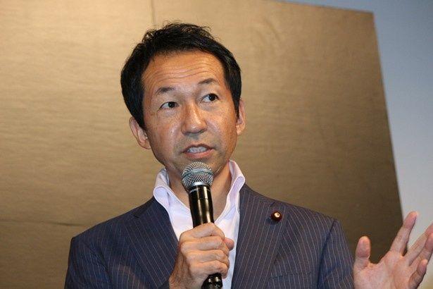 「ハウス・オブ・カード 野望の階段」のイベントに登場した福田峰之