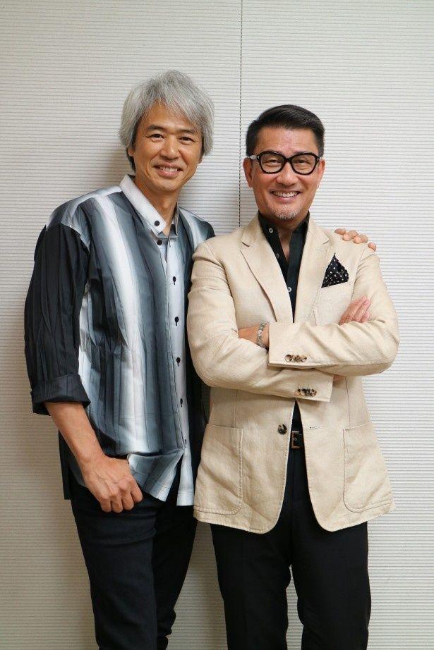 「グッドモーニングショー」で19年振りの共演を果たした中井貴一と時任三郎