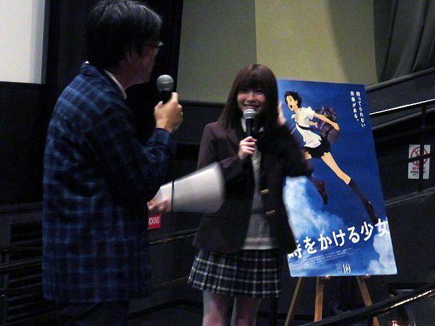 """『時をかける少女』の上映イベントで""""トキカケ愛""""を語るSKE48・谷真理佳"""
