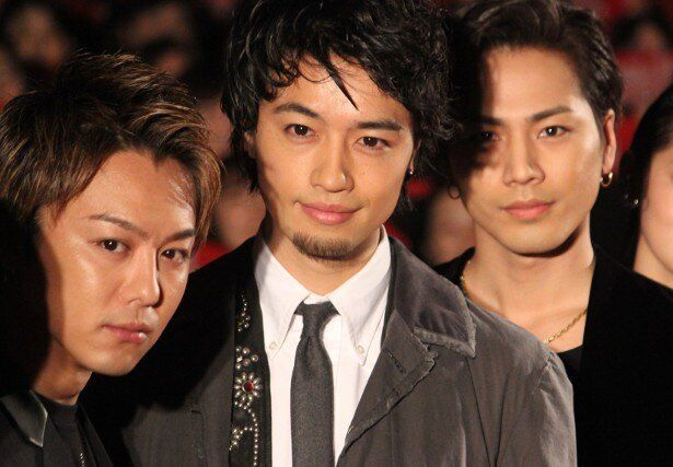 『HiGH&LOW THE RED RAIN』で共演したTAKAHIRO、登坂広臣、斎藤工
