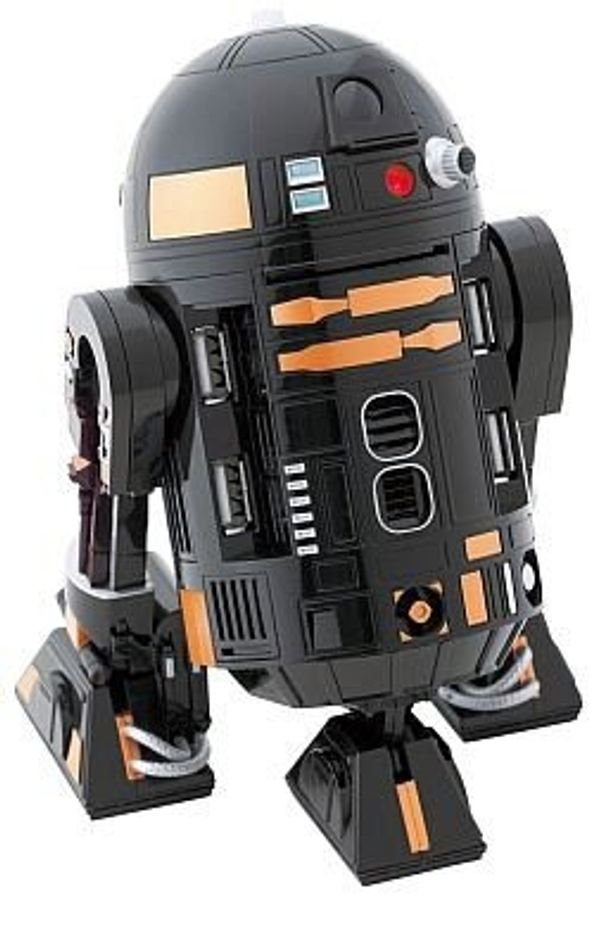 目が光ったり、頭が動いたりとリアルな「R2-Q5 USBハブ」