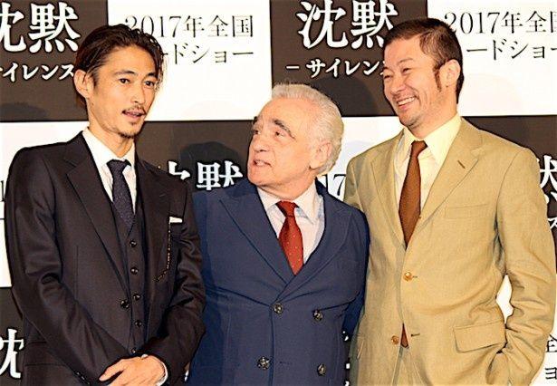 【写真を見る】巨匠マーティン・スコセッシ監督、窪塚洋介、浅野忠信が笑顔で語り合う!