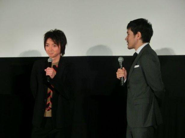 藤原竜也と松山ケンイチの軽快なトークに観客は終始爆笑!