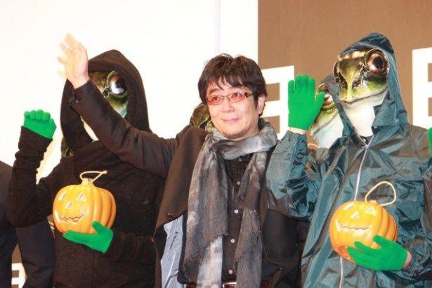 『ミュージアム』のカエル男と大友啓史監督がレッドカーペットに登場