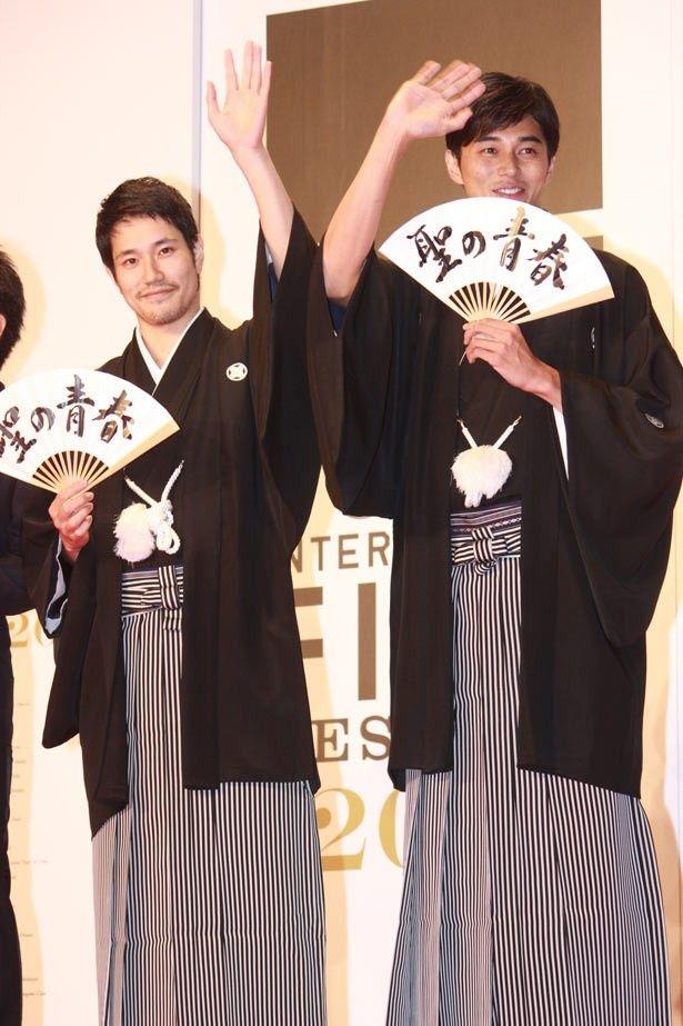 クロージング作品『聖の青春』の松山ケンイチ、東出昌大。はかま姿の2ショットはインパクト大!