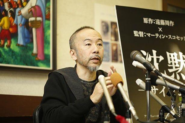 塚本が日本二十六聖人記念館で記者会見を行った