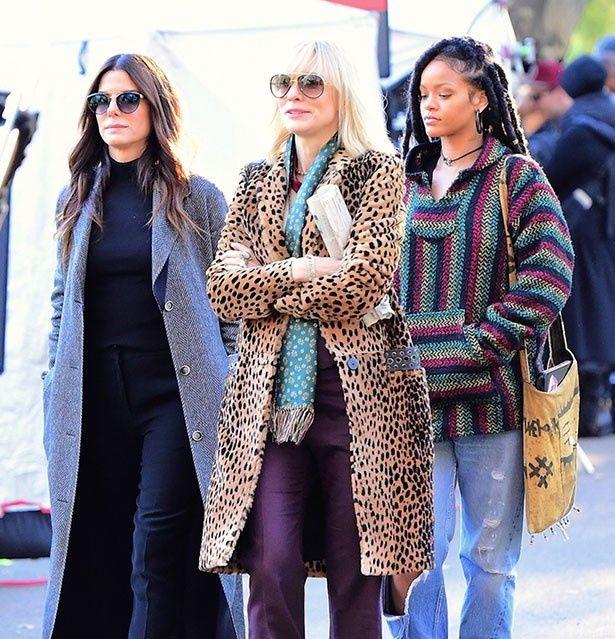 サンドラ・ブロック、ケイト・ブランシェット、リアーナら豪華なメンバーが撮影中