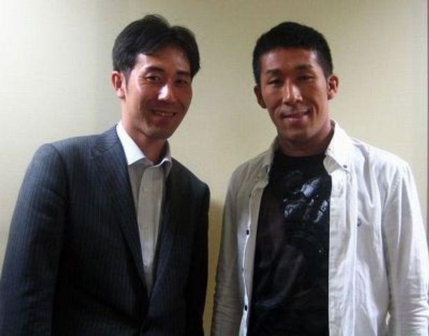 田村研一氏(左)と麒麟・田村裕氏(右)