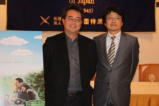 亀山千広プロデューサー(右)とチェリン・グラック監督