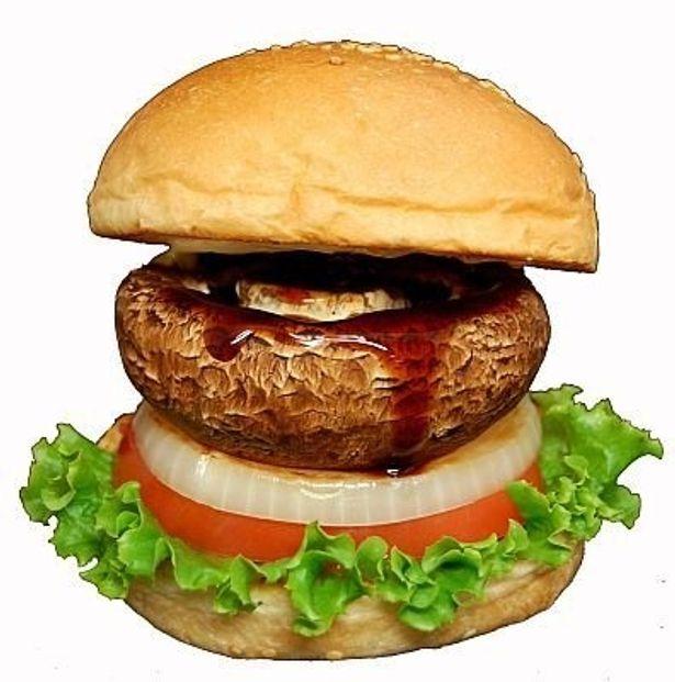 大きなマッシュルームが丸ごと入った「ベジタブルバーガー・マッシュルーム」