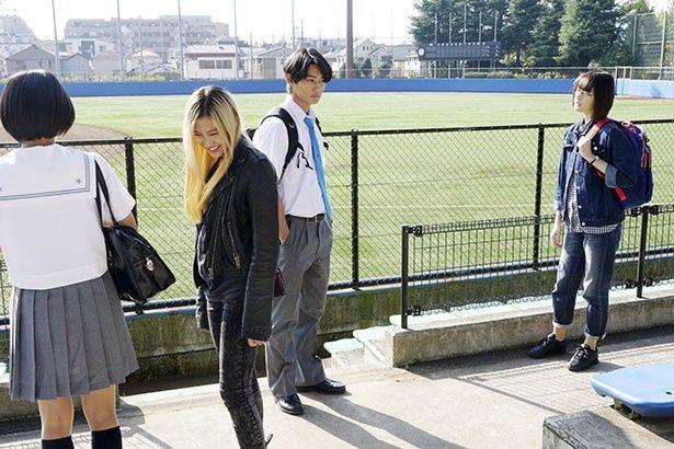 ケイと春埼、村瀬と岡が取引きするシーンを撮影