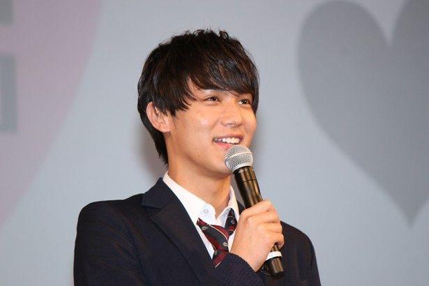 『きょうのキラ君』の完成披露舞台挨拶に登場した中川大志