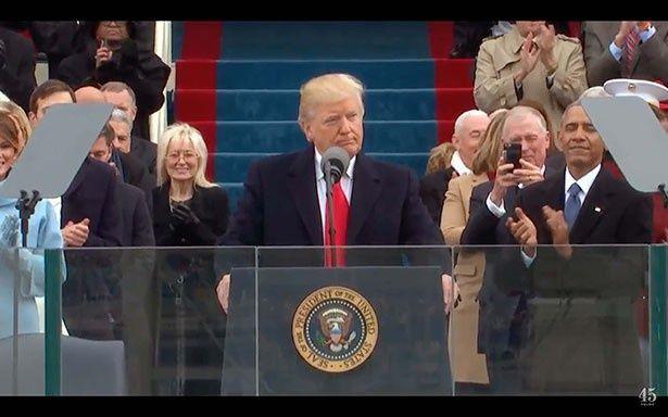 1月20日の就任式で第45代米国大統領に就任したドナルド・トランプ